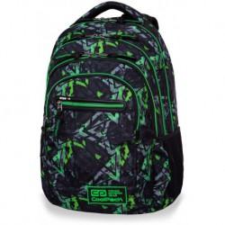 Plecak szkolny CoolPack CP COLLEGE TECH ELECTRIC GREEN zielone błyskawice - 5 przegród - kieszeń RFID