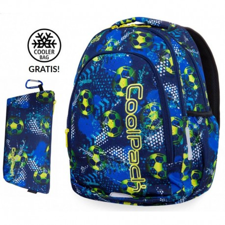 Plecak szkolny do klas 1-3 CoolPack CP PRIME FOOTBALL BLUE piłka nożna + GRATIS