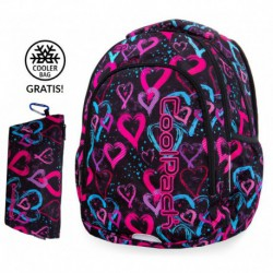014a988a2196a Plecak szkolny do klas 1-3 CoolPack CP PRIME DRAWING HEARTS kolorowe  serduszka + GRATIS