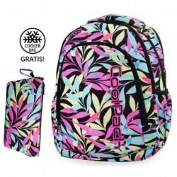 Plecak szkolny do klas 1-3 CoolPack CP PRIME PASTEL LEAVES pastelowe liście + GRATIS