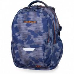 Plecak młodzieżowy CoolPack CP FACTOR MISTY TANGERINE niebieska mgła - 4 przegrody