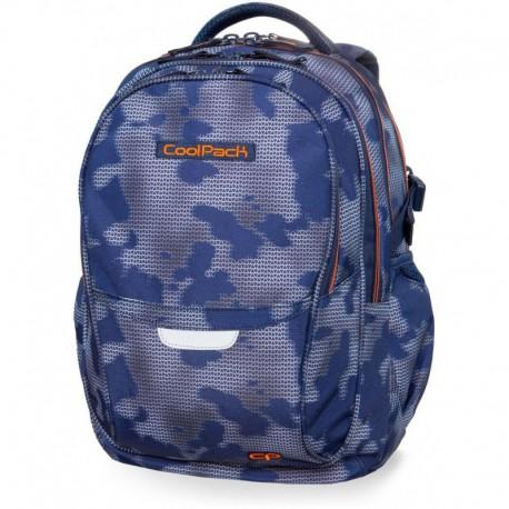 Plecak młodzieżowy CoolPack CP FACTOR MISTY TANGERINE niebieska mgła - 4 przegrody - Cool-pack.pl