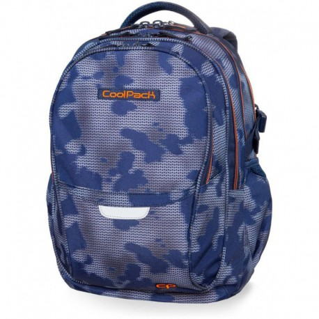 Plecak szkolny CoolPack CP FACTOR MISTY TANGERINE niebieska mgła - 4 przegrody