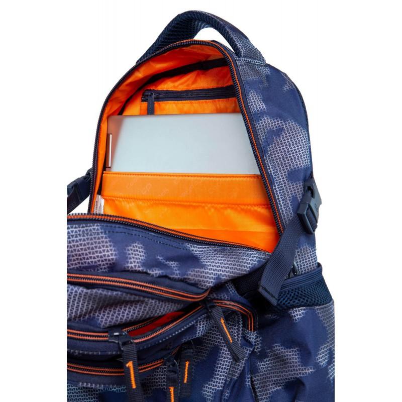 2b85583ab7351 ... Plecak młodzieżowy CoolPack CP FACTOR MISTY TANGERINE duży niebieski  mgła kieszeń na laptopa ...