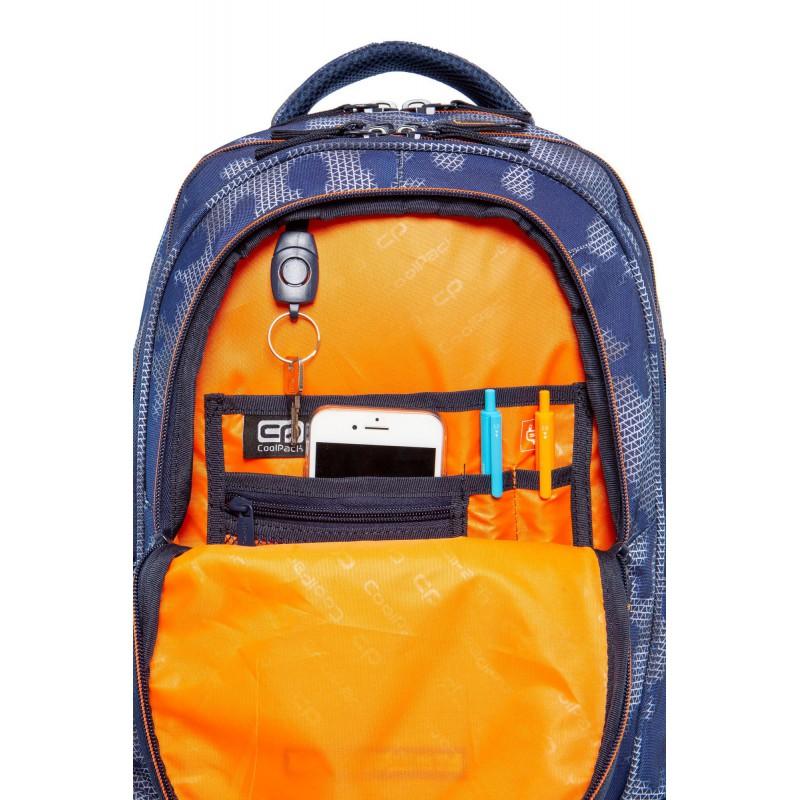 b6db3e7602509 ... Plecak młodzieżowy CoolPack CP FACTOR MISTY TANGERINE duży niebieski  mgła organizer ...