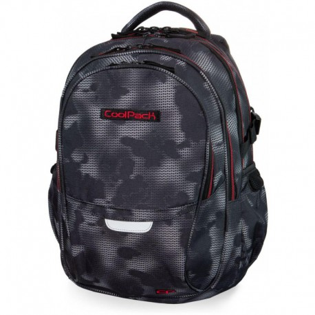 Plecak młodzieżowy CoolPack CP FACTOR MISTY RED szara mgła - 4 przegrody - Cool-pack.pl