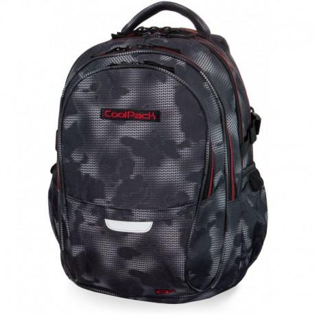 Plecak szkolny CoolPack CP FACTOR MISTY RED szara mgła - 4 przegrody