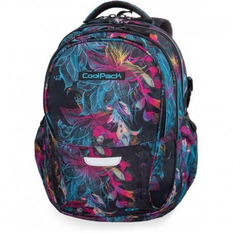 Plecak młodzieżowy CoolPack CP FACTOR VIBRANT BLOOM iluzja w kwiaty - 4 przegrody - Cool-pack.pl