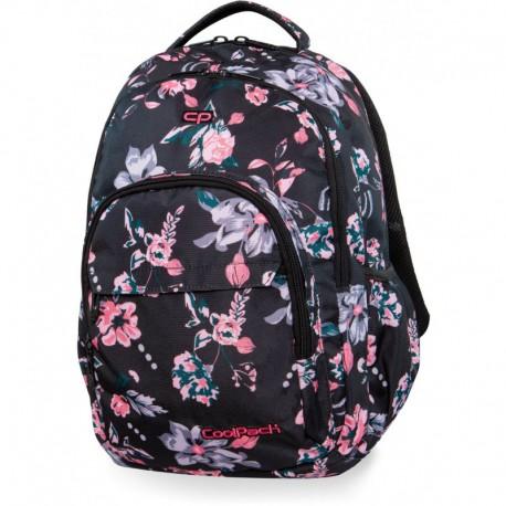 Plecak młodzieżowy CoolPack CP BASIC PLUS DARK ROMANCE czarny w kwiaty - Cool-pack.pl