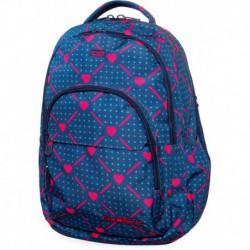 227394a6df0f6 Plecak szkolny CoolPack CP BASIC PLUS HEART LINK w serca na granatowym tle