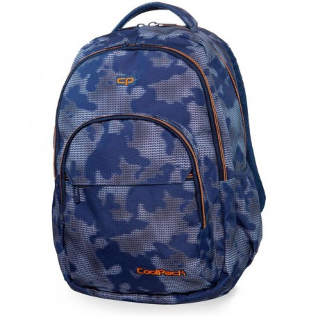 Plecak młodzieżowy CoolPack CP BASIC PLUS MISTY TANGERINE niebieska mgła - Cool-pack.pl