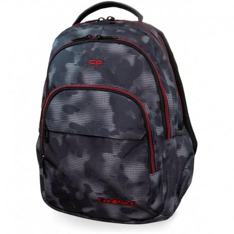 Plecak szkolny CoolPack CP BASIC PLUS MISTY RED szara mgła