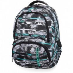 43f76871186cb Plecak szkolny CoolPack CP SPINER PALM TREES MINT szary i miętowy w palmy