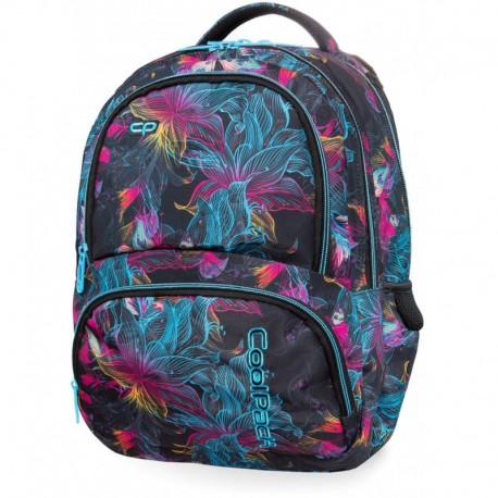 Plecak szkolny CoolPack CP SPINER VIBRANT BLOOM w kwiaty iluzja
