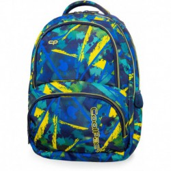 Plecak młodzieżowy CoolPack CP SPINER ABSTRACT YELLOW kolorowe plamy