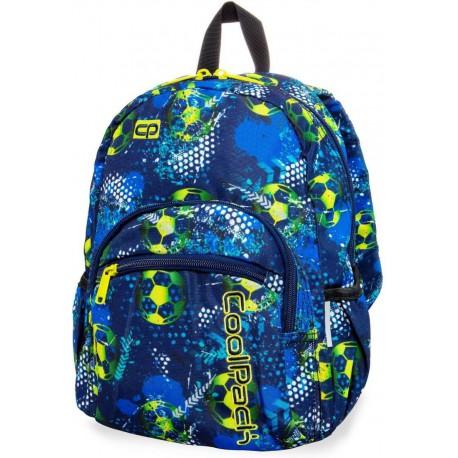 Plecak do przedszkola CoolPack CP MINI FOOTBALL BLUE niebieski z piłką nożną