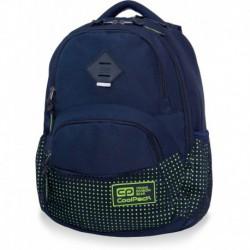 Plecak szkolny CoolPack CP DART DOTS YELLOW NAVY granatowo-żółty w kropki z organizerem