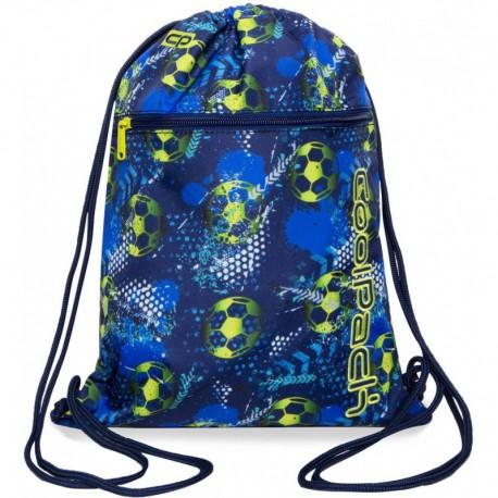 Worek na buty / na sznurkach CoolPack CP VERT FOOTBALL BLUE z piłką nożną - Cool-pack.pl