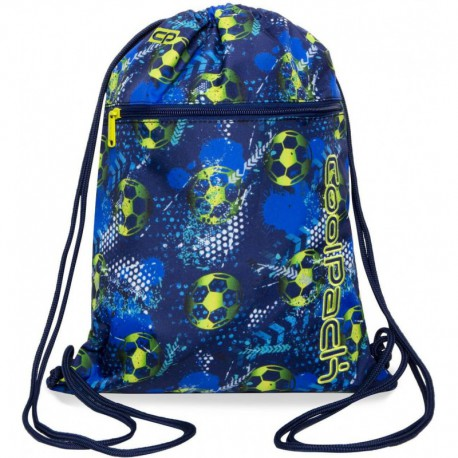 Worek na strój / buty na sznurkach CoolPack CP VERT FOOTBALL BLUE z piłką nożną