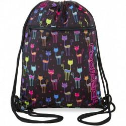Worek na buty / na sznurkach CoolPack CP VERT CATS kolorowe koty