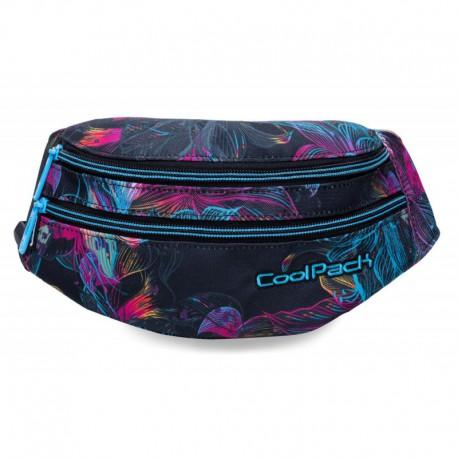 Saszetka nerka torba na pas CoolPack CP MADISON VIBRANT BLOOM iluzja w kwiaty - Cool-pack.pl