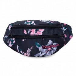 Saszetka nerka torba na pas CoolPack CP MADISON PALM DARK ROMANCE czarny w kwiaty