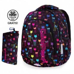 Plecak szkolny do klas 1-3 CoolPack CP PRIME CATS kolorowe kociaki + GRATIS
