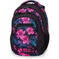 Plecak szkolny CoolPack CP COLLEGE BLOSSOMS różowe kwiaty hibiskusa - 5 przegród - kieszeń RFID