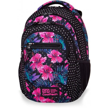 Plecak młodzieżowy CoolPack CP COLLEGE BLOSSOMS różowy hibiskus - 5 przegród - kieszeń RFID - Cool-pack.pl