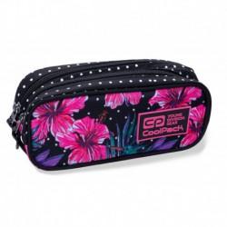 Piórnik / etui dwukomorowe CoolPack CLEVER BLOSSOMS różowy hibiskus