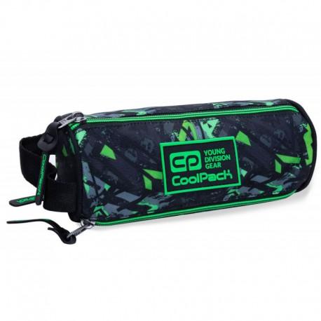 Piórnik tuba trzykomorowa COOLPACK CP OMNI ELECTRIC GREEN zielone błyskawice - Cool-pack.pl