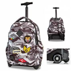 1563cfbd61899 Plecak na kółkach CoolPack CP JUNIOR CAMO BLACK BADGES