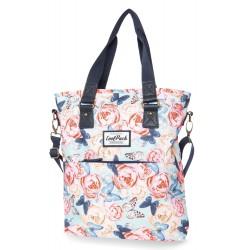 Torba damska shopperka CoolPack CP AMBER BUTTERFLIES motyle i róże