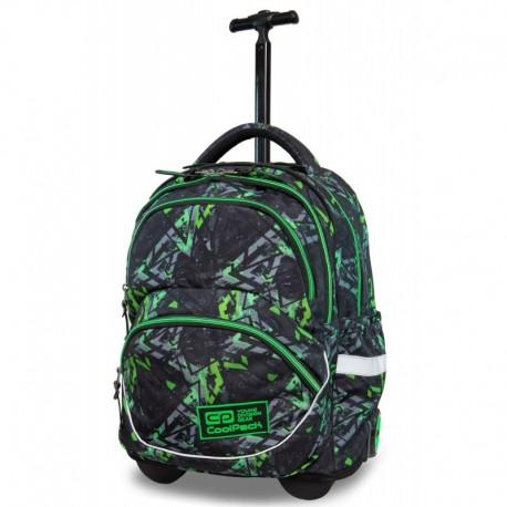 Plecak na kółkach CoolPack CP STARR ELECTRIC GREEN zielone błyskawice dla chłopca - Cool-pack.pl