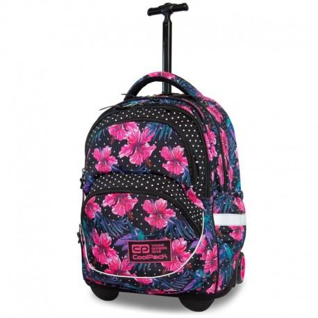 Plecak na kółkach CoolPack CP STARR BLOSSOMS różowy hibiskus - Cool-pack.pl