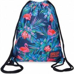 Worek na buty / na WF CoolPack CP SOLO PINK FLAMINGO niebieski z flamingami