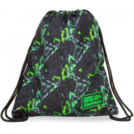 Worek na buty / na WF CoolPack CP SOLO ELECTRIC GREEN zielone błyskawice - Cool-pack.pl