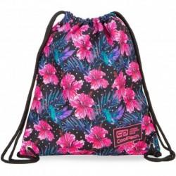 Worek na buty CoolPack CP SOLO BLOSSOM kwiaty różowy hibiskus