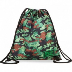 Worek na strój / plecak na sznurkach CoolPack CP SPRINT LINE CAMO FUSION GREEN zielone moro