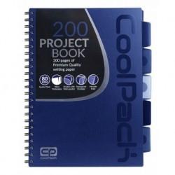 Notatnik na spirali A4 / 200 str. w kratkę COOLPACK CP DARK BLUE - GRANATOWY