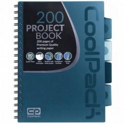Notatnik na spirali B5 / 200 str. w kratkę COOLPACK CP BLUE - NIEBIESKI