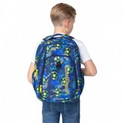 Plecak młodzieżowy CoolPack CP STRIKE L FOOTBALL BLUE z piłką nożną - port USB