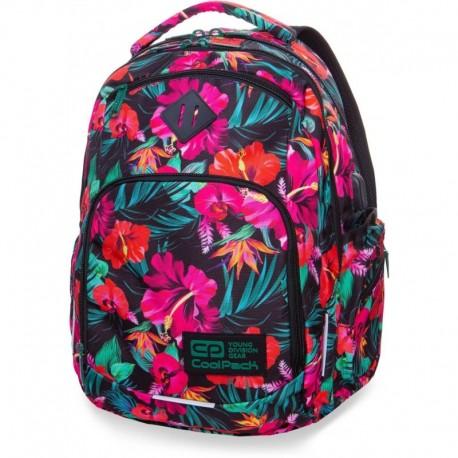 Plecak młodzieżowy COOLPACK CP BREAK MAUI DREAM hawajskie kwiaty - port USB - Cool-pack.pl