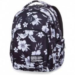 Plecak młodzieżowy COOLPACK CP BREAK WHITE HIBISCUS biały hibiskus kwiaty - port USB
