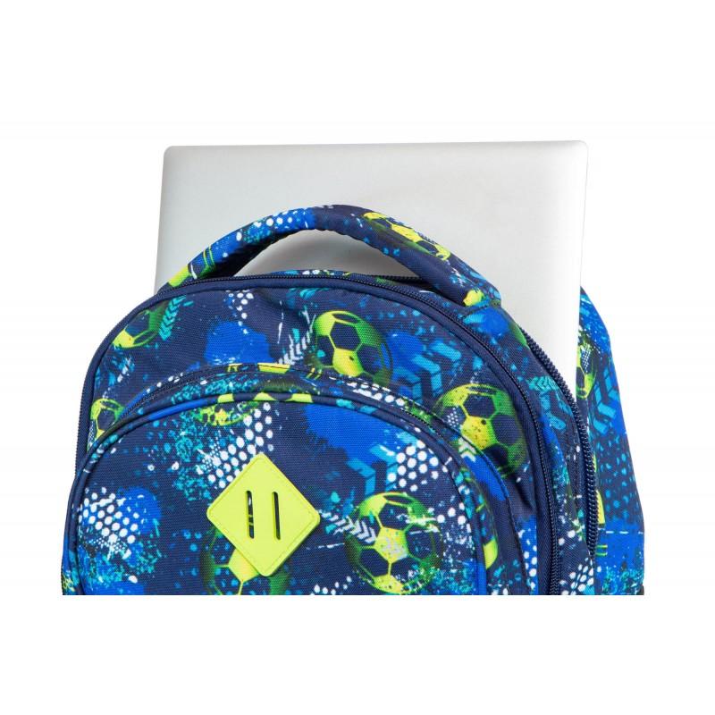 27c513c685bed ... Plecak na kółkach CoolPack CP JUNIOR FOOTBALL BLUE z piłką nożną ...