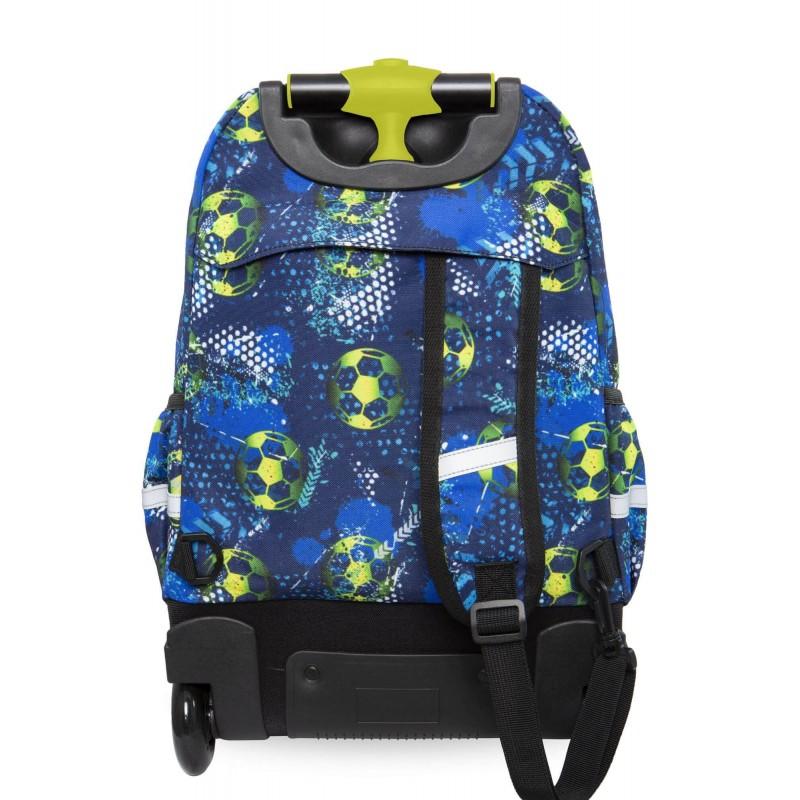 20f3c646c3302 Młodzieżowy plecak na kółkach CoolPack CP JUNIOR FOOTBALL BLUE piłki