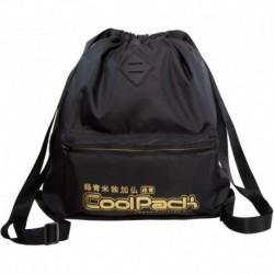 Plecak worek na plecy CoolPack CP URBAN SUPER GOLD czarny ze złotym napisem
