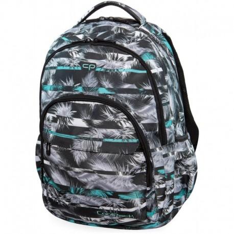 Plecak młodzieżowy CoolPack CP BASIC PLUS PALM TREES MINT szary i miętowy w palmy - Cool-pack.pl