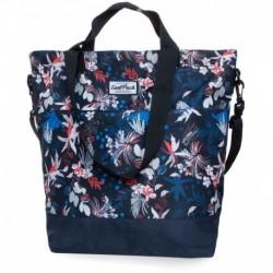 Torba damska shopperka CoolPack CP SOHO OCEAN GARDEN podwodne kwiaty