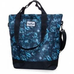 Torba damska shopperka CoolPack CP SOHO UNDERWATER DREAM błękitne kwiaty